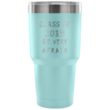 Load image into Gallery viewer, Graduation Coffee Mugs - Be Very Afraid - Light Blue
