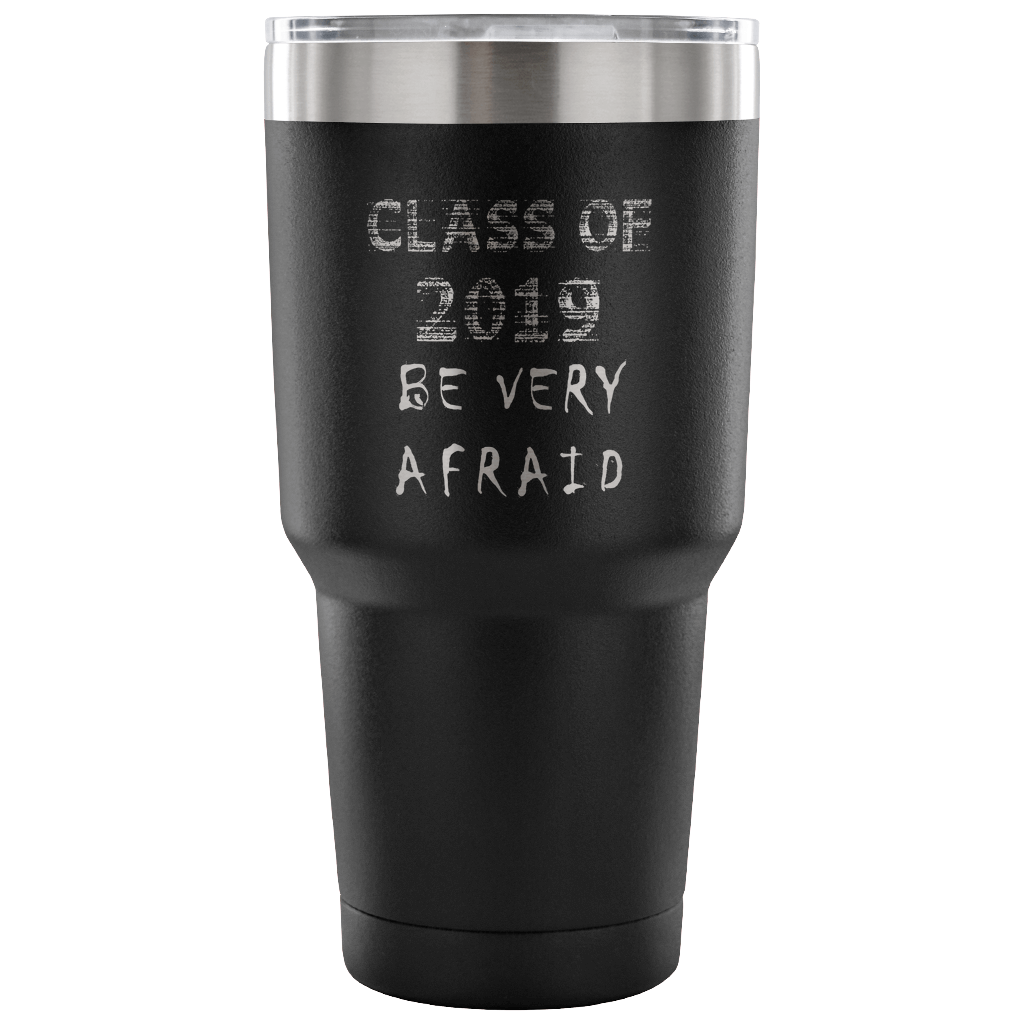 Graduation Coffee Mugs - Be Very Afraid - Black