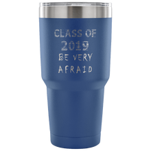 Load image into Gallery viewer, Graduation Coffee Mugs - Be Very Afraid - Blue