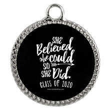 Load image into Gallery viewer, She Believed She Could So She Did - Graduation Necklace for Her