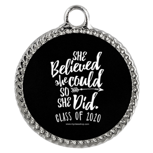 She Believed She Could So She Did - Graduation Necklace for Her