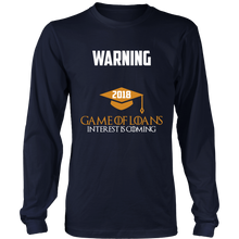 Load image into Gallery viewer, Game of Loans-Class of 2018 long sleeve shirts