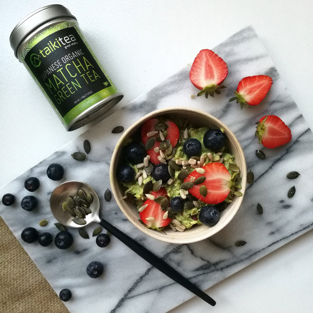 Taiki Tea matcha overnight oats