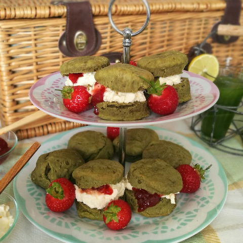 Game, Set, Matcha: Wimbledon inspired matcha scones