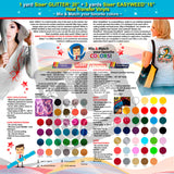 GERCUTTER Store: 1 yard SISER GLITTER + 3 yards SISER EASYWEED Heat Transfer Vinyl on Cotton or Polyester Mesh and Poly-blend Fabrics (Mix & Match your favorite colors) - gercuttervinyl