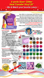 "4 Yards Siser Glitter Heat Transfer Vinyl 20"" (Mix & Match your favorite colors) - gercuttervinyl"