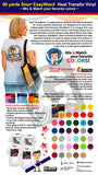 60 Yards Siser EasyWeed IRON-ON Heat Transfer Vinyl (Mix & Match your favorite colors) - gercuttervinyl