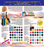 GERCUTTER Store: 7 yards SISER GLITTER + 2 yards SISER EASYWEED Heat Transfer Vinyl on Cotton or Polyester Mesh and Poly-blend Fabrics (Mix & Match your favorite colors) - gercuttervinyl