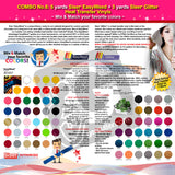 GERCUTTER Store - COMBO No.6: 5 yards SISER EASYWEED + 3 yards SISER GLITTER Heat Transfer Vinyl (Mix & Match your favorite colors) - gercuttervinyl