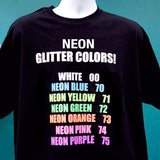 "3 Yards Siser Glitter 20"" Heat Transfer Vinyl (White & Neon colors) - Cricut Die cut CraftROBO on Cotton or Polyester mesh and Poly-blend fabrics (Mix & Match colors) - gercuttervinyl"