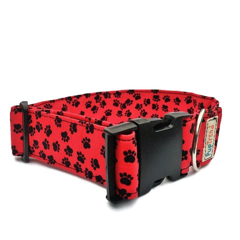 Red Paw Print Dog & Cat Collar