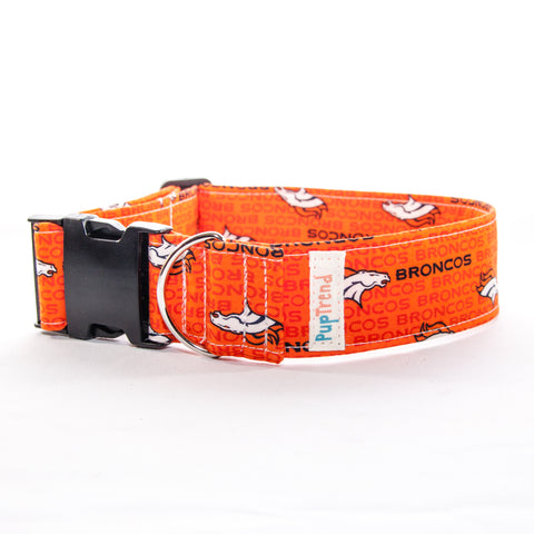 Broncos Designer Dog Collar