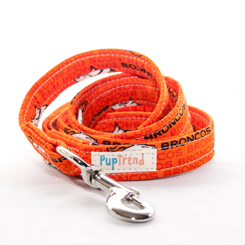 Broncos Designer Dog Leash 6'