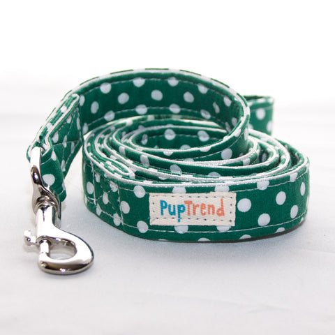 Polka Dot Designer Dog Leash 6'