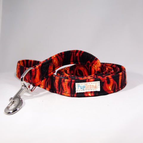Fire Designer Dog Leash 6'