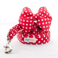 Red Polka Dot Dog Bow Tie