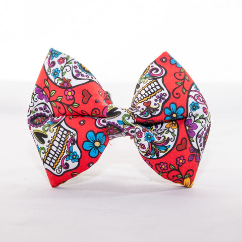 Sugar Skull Dog Bow Tie