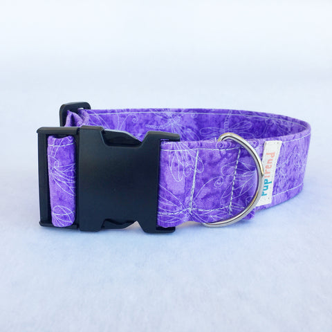 Purple Dragonfly Collar - Clearance - 50% OFF!