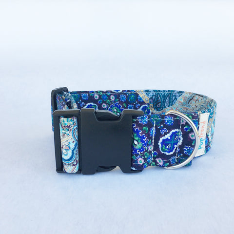Blue Paisley Designer Dog & Cat Collar