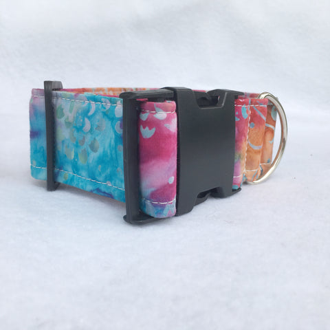 Colorful Batik Cat & Dog Collar