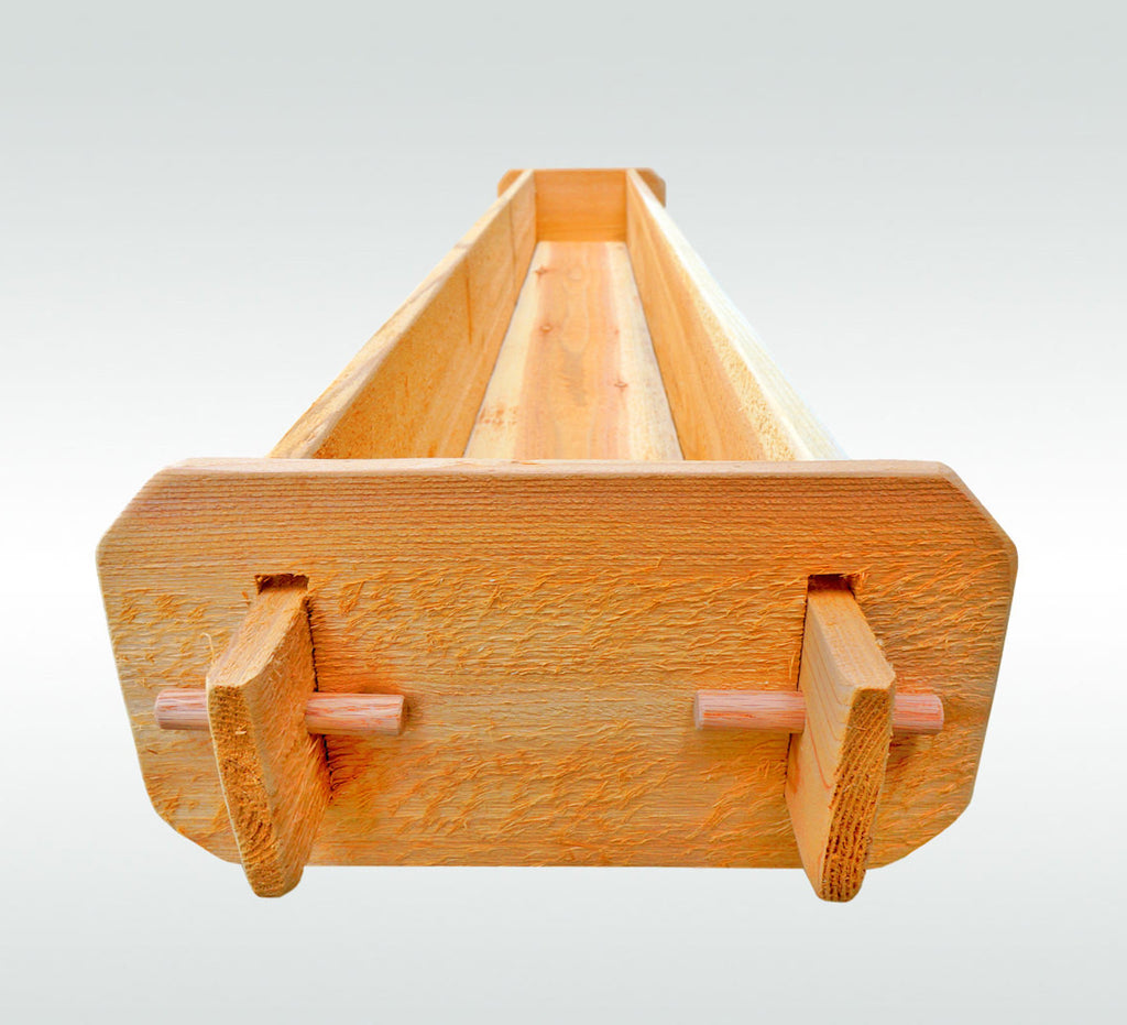 Timberlane Gardens Long Outdoor Rectangular Planter Box Kit Western Re