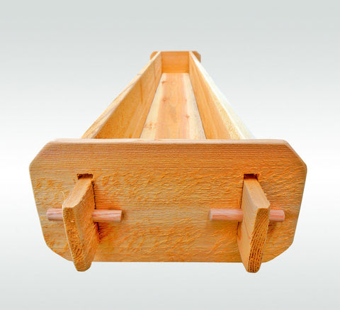 Timberlane Gardens Long Outdoor Rectangular Planter Box Kit Western Red Cedar - Timberlane Gardens