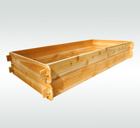 Timberlane Gardens Raised Garden Bed Kit Double Deep (Two 3x6) Western Red Cedar - Timberlane Gardens