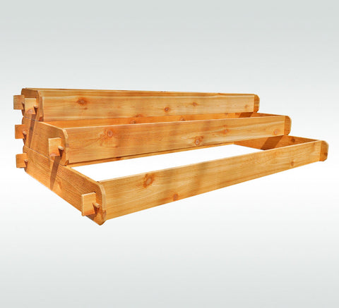 Timberlane Gardens Raised Garden Bed Kit Large 3 Tiered (1x6 2x6 3x6) Western Red Cedar Elevated Planter - Timberlane Gardens