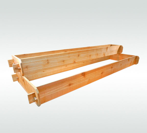 Timberlane Gardens Raised Garden Bed Kit 2 Tiered (1x6 2x6) Western Red Cedar - Timberlane Gardens