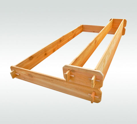 Timberlane Gardens Raised Garden Bed Kit 2 Tiered (1x6 3x6) Western Red Cedar - Timberlane Gardens