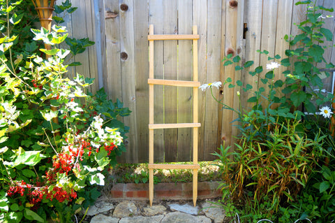 Decorative Ladder, Garden Trellis Pot Trellis Garden Ladder Planter Trellis Primitive Wooden Ladder Old Ladder Rustic Ladder Wooden Yard Art - Timberlane Gardens