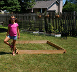 Timberlane Gardens Raised Garden Bed Kit 6x6 All Natural Western Red Cedar Handcrafted - Timberlane Gardens