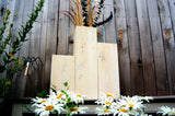 White Flower Vases Winter Wedding Table Centerpiece Winter Decor Winter Wedding Centerpiece Wedding Decor Winter Centerpiece Tall Cedar Set - Timberlane Gardens