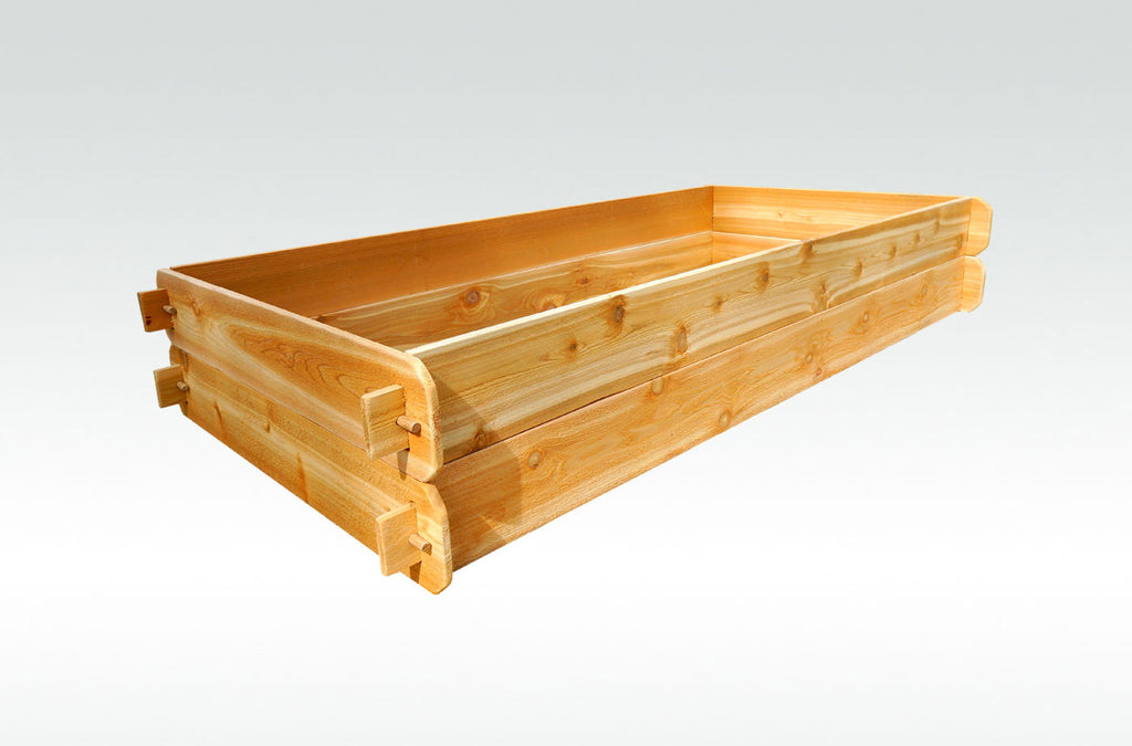 Timberlane Gardens Raised Bed Kit Double Deep (Two 3x6) Western Red Cedar with Mortise and Tenon Joinery 3 Feet x 6 Feet