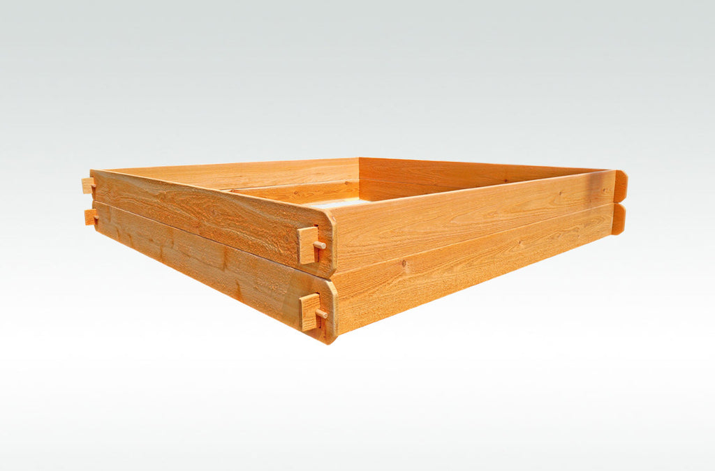 Timberlane Gardens Raised Bed Kit Large Double Deep (Two 6x6) Western Red Cedar with Mortise and Tenon Joinery 6 Feet x 6 Feet