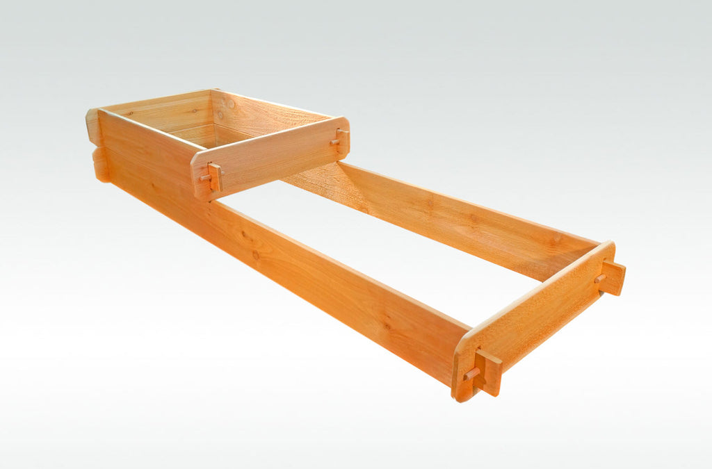 Timberlane Gardens Raised Bed Kit 2 Tiered (2x3 2x6) Western Red Cedar with Mortise and Tenon Joinery 2 Feet x 6 Feet