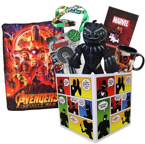 Super Hero Collection LookSee Box Avengers Throw Blanket
