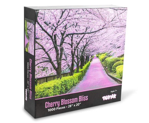 Cherry Blossom Bliss Tokyo Japan Puzzle 1000 Piece Jigsaw Puzzle