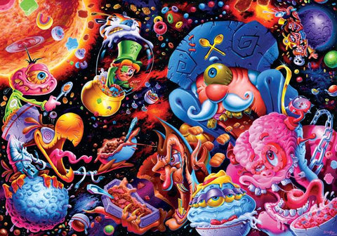 Cosmic Crunch Breakfast Cereal Puzzle By Joe Simko | 1000 Piece Jigsaw Puzzle