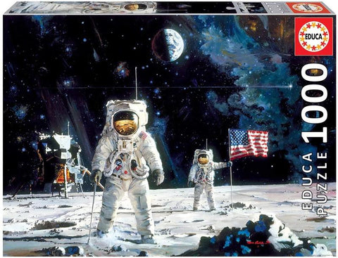First Men On The Moon 1000 Piece Jigsaw Puzzle