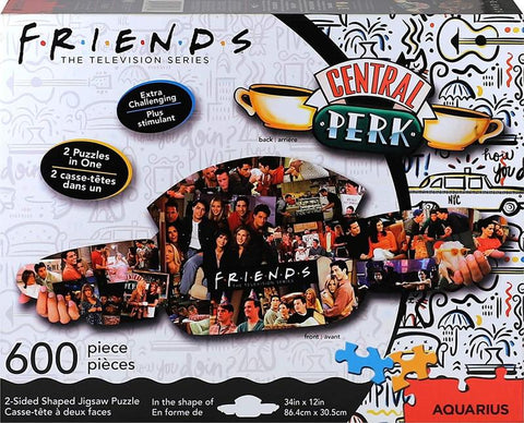 Friends Central Perk & Collage 600 Piece 2 Sided Die Cut Jigsaw Puzzle
