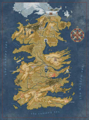Game of Thrones Map of Westeros 1000-Piece Puzzle