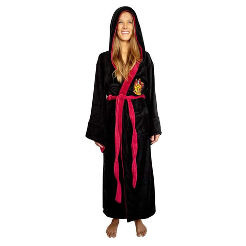Harry Potter Gryffindor Hooded Bathrobe for Adults