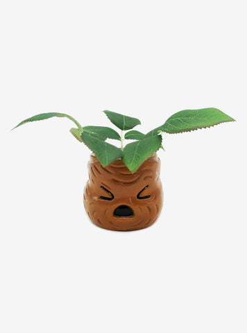 Harry Potter Mandrake Face 6 Inch Ceramic Planter with Faux Plant
