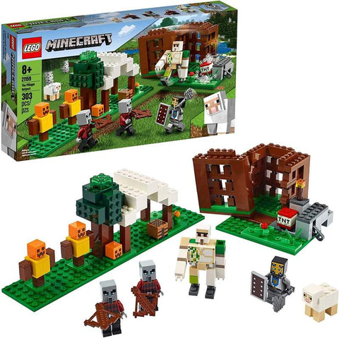 LEGO Minecraft The Pillager Outpost 21159 | 303 Pieces Building Kit