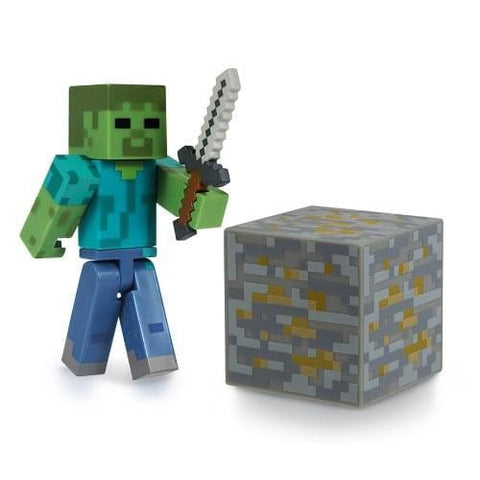 "Minecraft 3"" Series 1 Action Figure: Zombie"