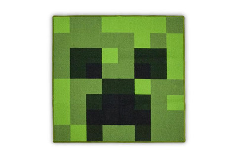 Minecraft Creeper Area Rug | Creeper Minecraft Rug | 39-Inch Square Area Rug