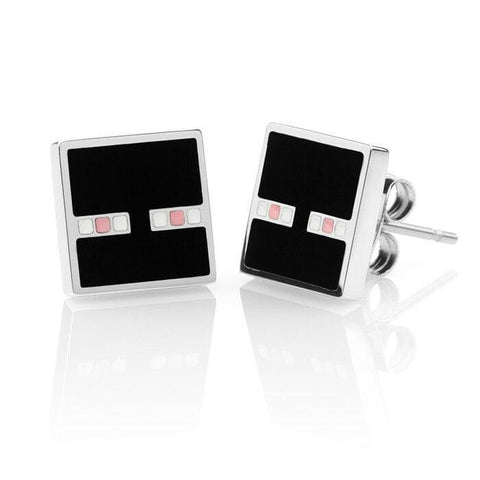 Minecraft Enderman Enamel Stud Earrings