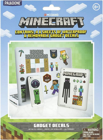Minecraft Gadgets Decal Stickers | 4 Sheets