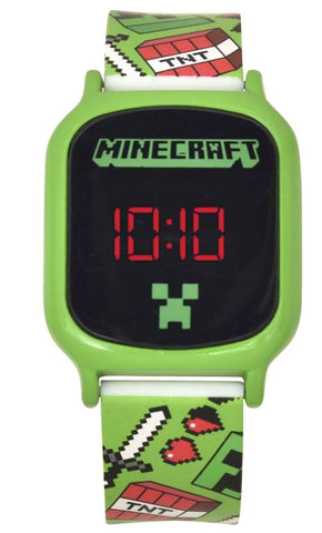 Minecraft LED Digital Touch Screen Watch